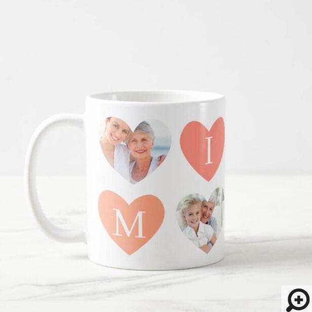 Love Mimi Grandmother Pink Heart Photos Collage Coffee Mug