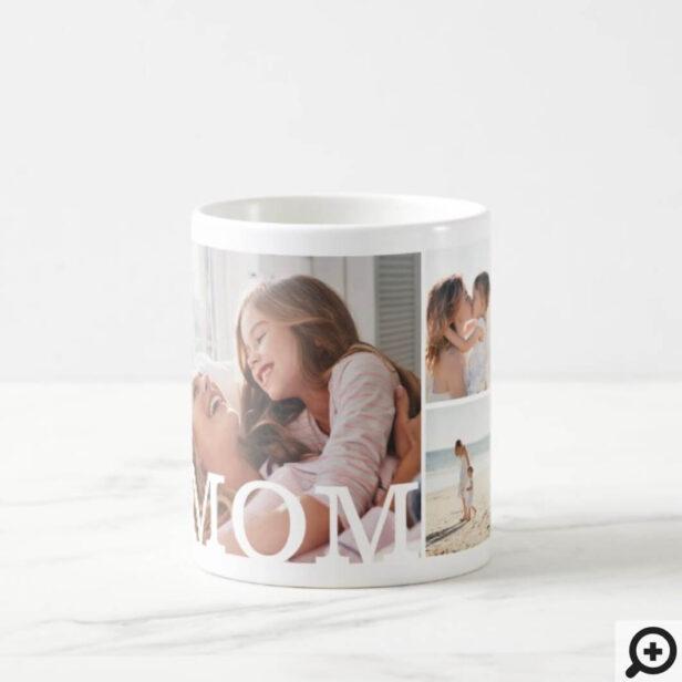 MOM Multiple Photo Collage & Custom Monogram Coffee Mug