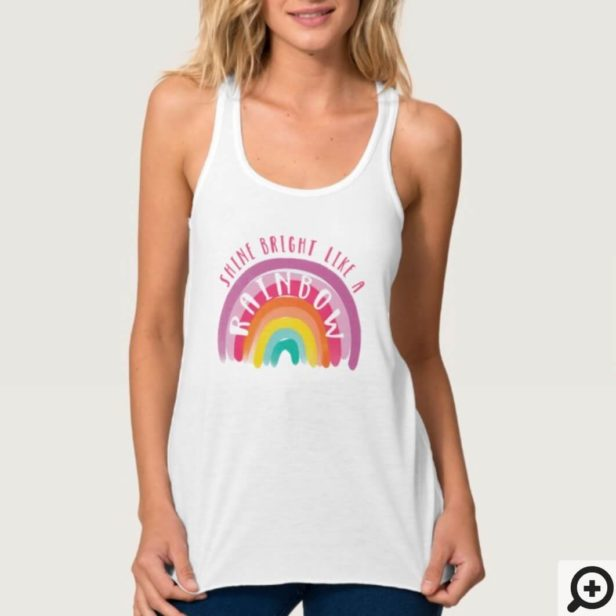 Shine Bright Like A Rainbow Gay Pride LGBTQ Tank Top