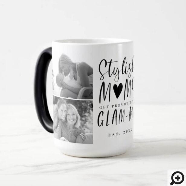 Stylish Moms Get Promoted To Glam-ma Photo Collage Magic Mug