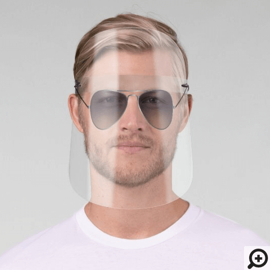 Tinted Lens Silver Frame Aviator Style Sunglasses Face Shield