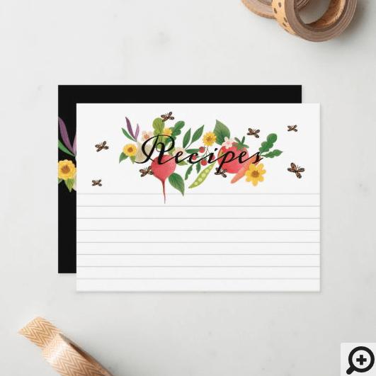 Fresh Vegetable Garden Medley & Butterflies Teal Classic Round Sticker