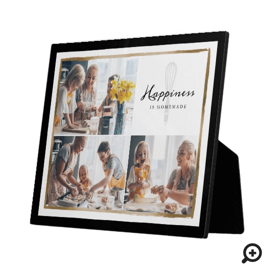 Happiness Is Homemade Family Photo Collage Plaque