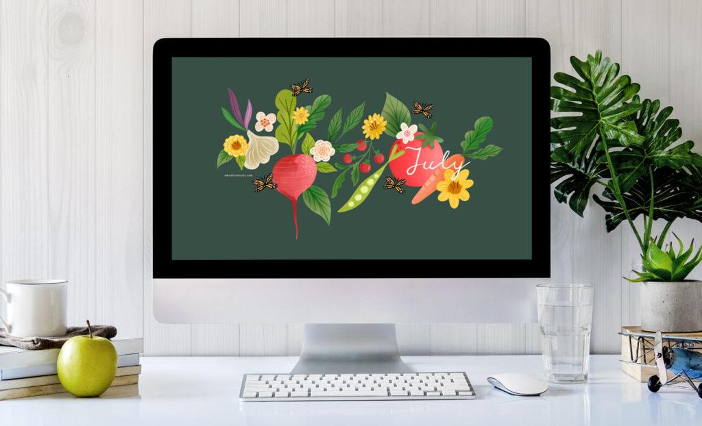 July free desktop wallpaper