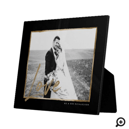 Love | Modern & Elegant Black & Gold Frame Wedding