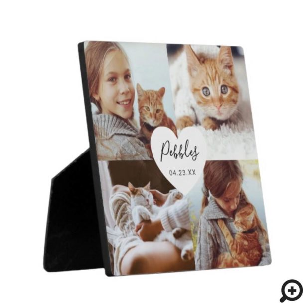 Loving Memories Pet Memorial Photo Square Collage Plaque