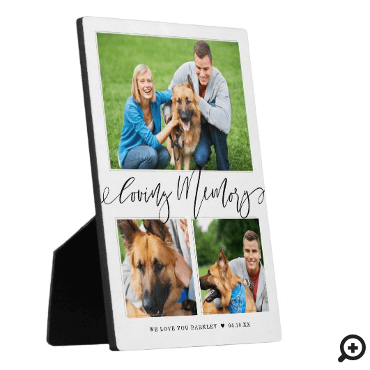 Loving Memory | 3 Photo Pet Memorial Collage Plaque