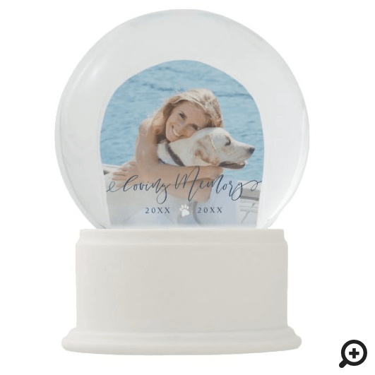 Loving Memory Pet Photo Memorial Keepsake Snow Globe