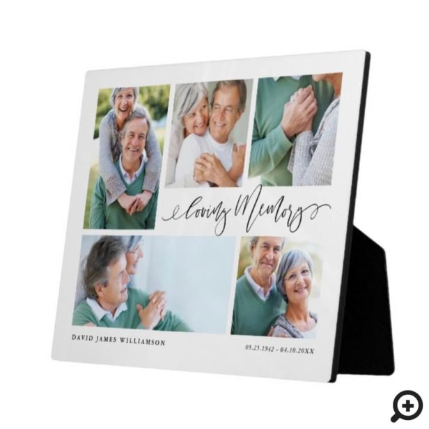 Loving Memory Photo Collage Memorial Keepsake Plaque