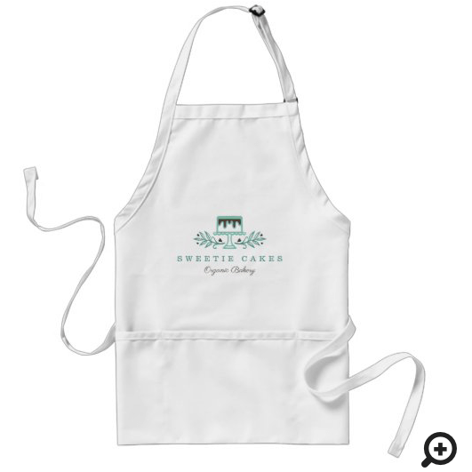Simple, Clean & Minimal Style Bakery Cake Logo Adult Apron
