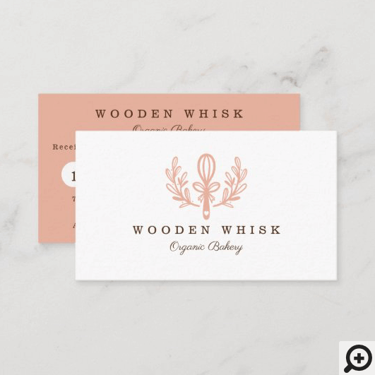 Simple, Clean & Minimal Style Bakery Whisk Loyalty Business Card