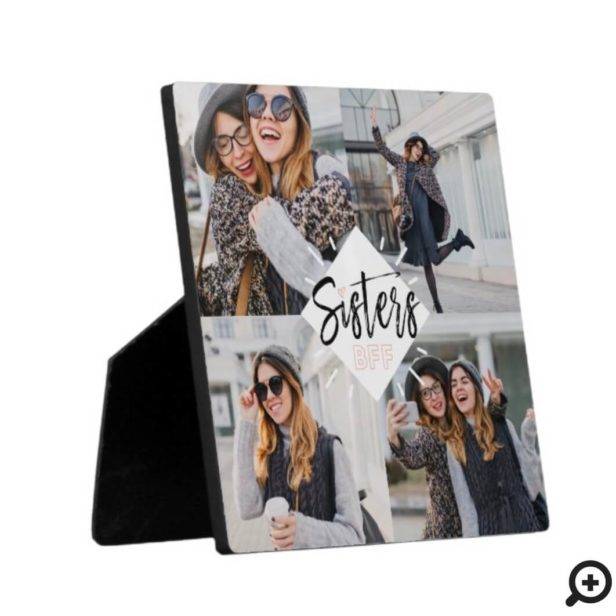 Sisters BFF | Best Friends Forever Photo Collage Plaque