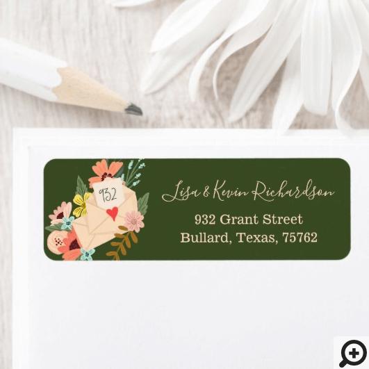 We've Moved Floral & Greenery Envelope New Address Label