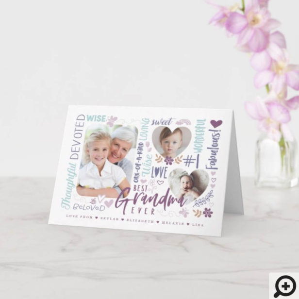 Words for Best Grandma Ever Any Occasion Photo Card