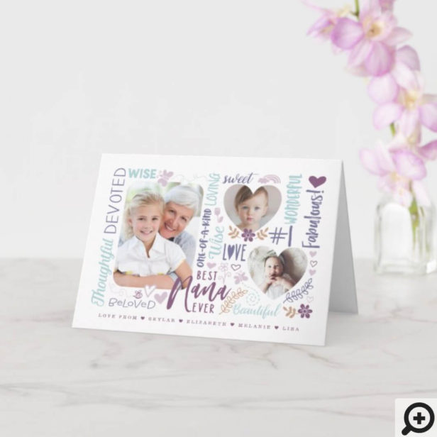 Words for Best Nana Ever Any Occasion Photo Card