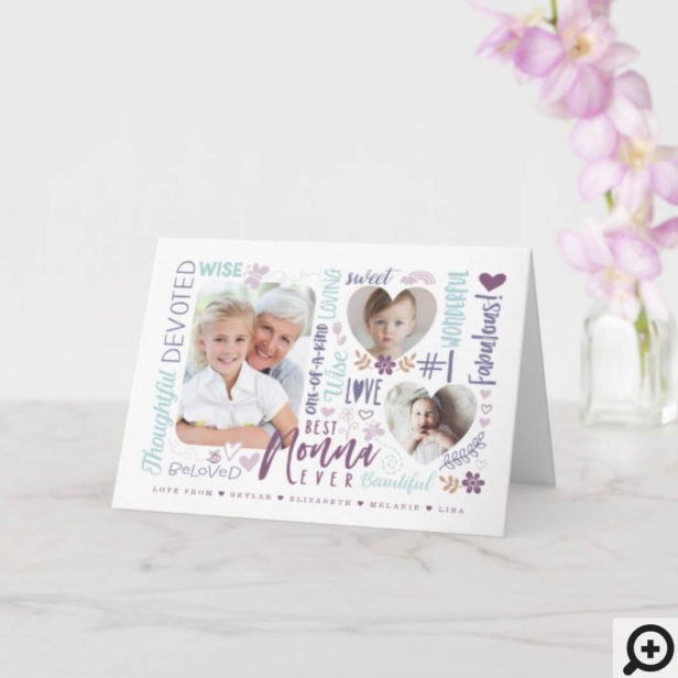 Words for Best Nonna Ever Any Occasion Photo Card