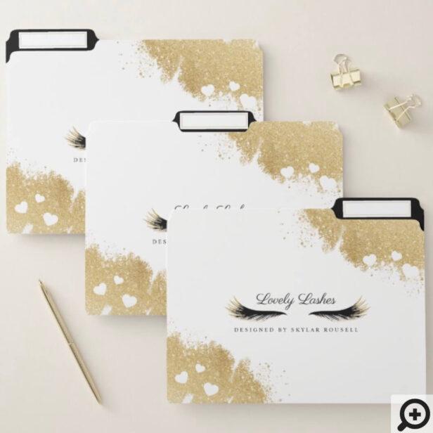 Beauty Gold Dusted Mascara Eye Lashes Luxurious File Folder
