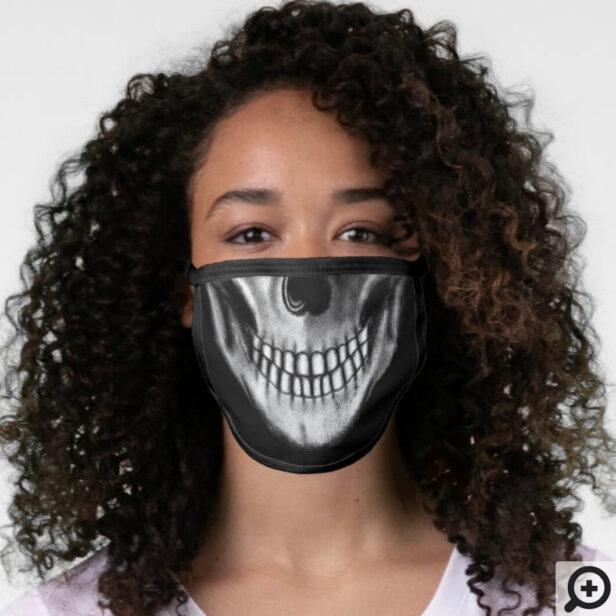 Fun Halloween Face Skull Bone Black Face Mask