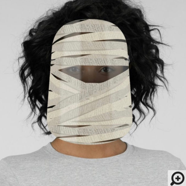 Fun Halloween Wrapped Up Mummy Face Shield