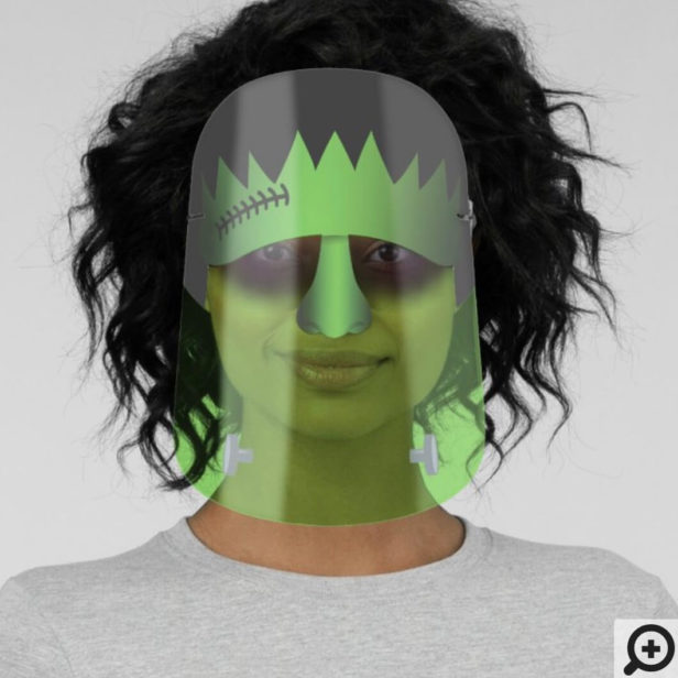 Spooky Frankenstein Monster Character Halloween Face Shield