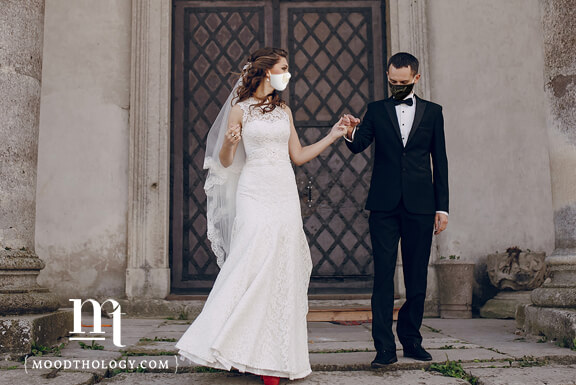Classic Black Wedding Day Masks By Moodthology Papery