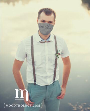 Grey Wedding Face Masks By Moodthology Papery