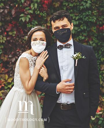 Navy Blue Wedding Face Masks By Moodthology Papery
