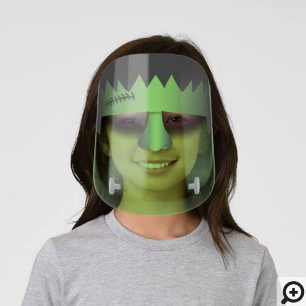 Spooky Frankenstein Monster Character Halloween Kids' Face Shield