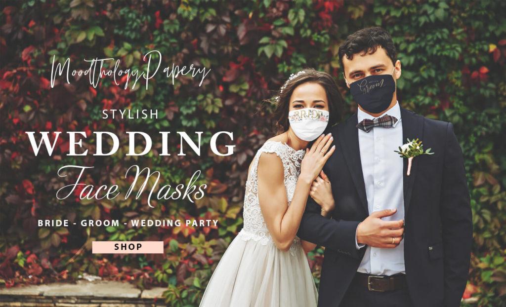 Stylish Wedding Face Masks