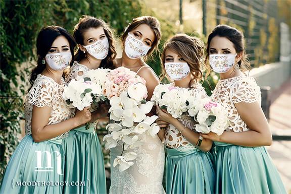 Wedding Party Masks By Moodthology Papery