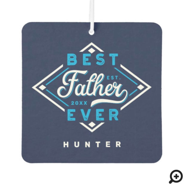 Best Father Ever Baseball Diamond Name & Monogram Air Freshener