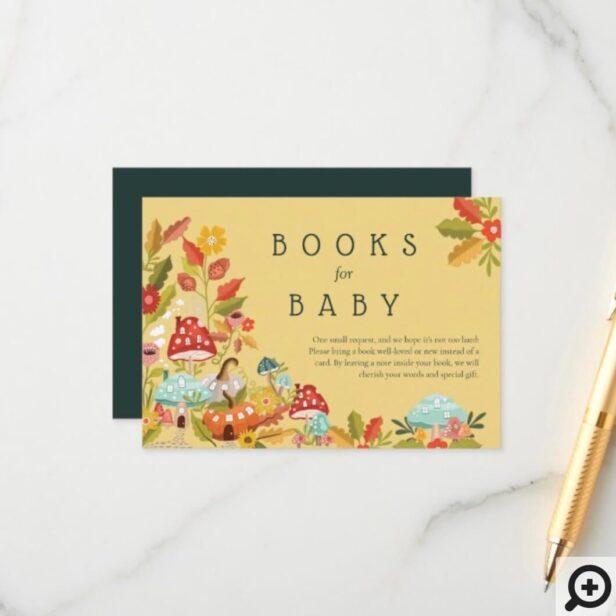 Books for Baby Autumn Leafs Mushrooms & Pumpkins Enclosure Card
