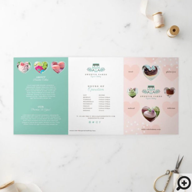 Cakes & Sweets Bakery Shop Branded Tri-Fold Card