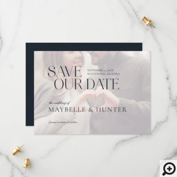 Modern Minimal Engagement Photo Save Our Date Save The Date