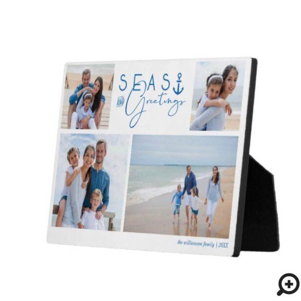 Seas & Greetings Blue Nautical Multiple Photo Plaque