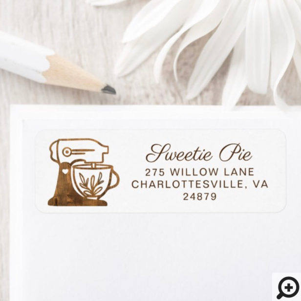 Simple & Minimal Style Bakery Rustic Stand Mixer Label