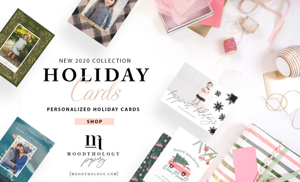 Best Holiday Photo Cards By Moodthology Papery
