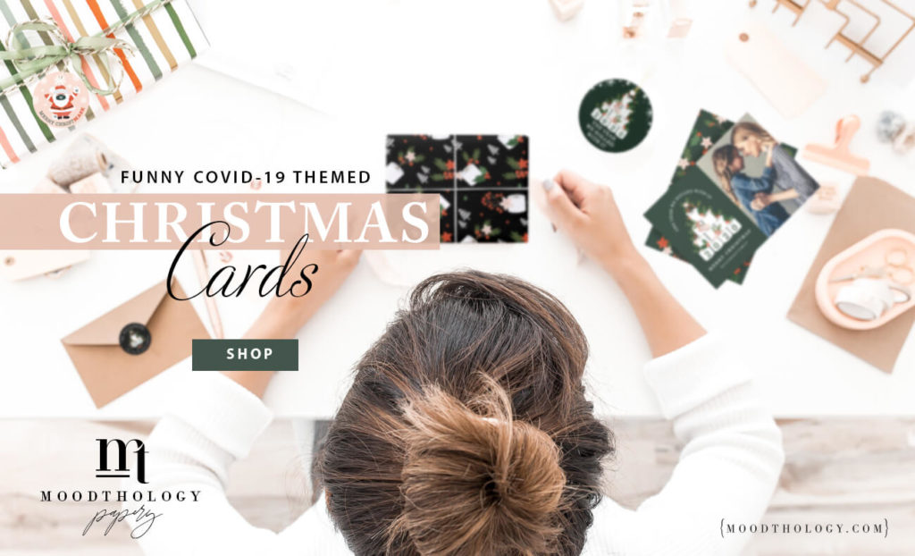 Covid-19 Themed Christmas Cards By Moodthology Papery