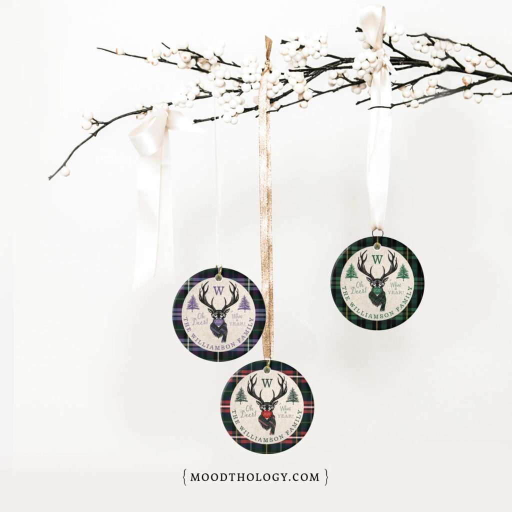 Oh Deer What A Year Ornaments Moodthology Papery