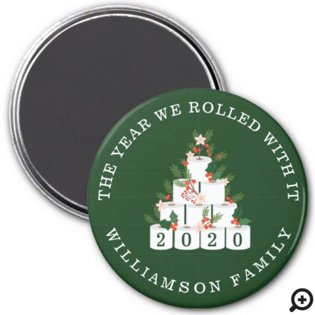 Rolled With It Family Christmas Toilet Paper Tree Magnet