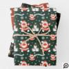 FA LA LA Black & White Chic Script Christmas Carol Wrapping Paper Sheets