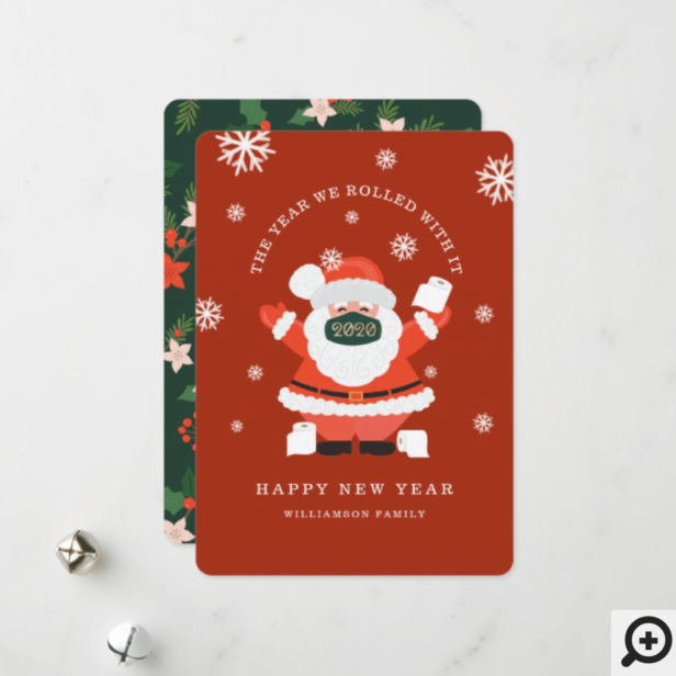 We Rolled With It Fun Santa Mask & Toilet Paper Holiday Card