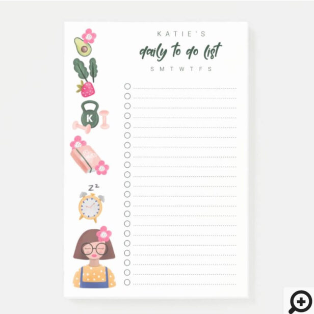 Daily to do list New Year New You Resolution Post-it Notes