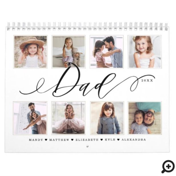 Gift for Dad   Family Memories Photo Calendar