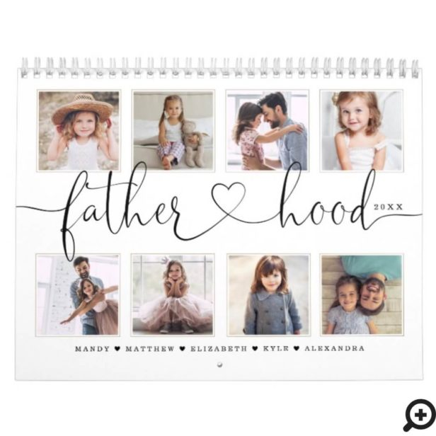 Gift for Dad | Fatherhood Family Memories Photo Calendar