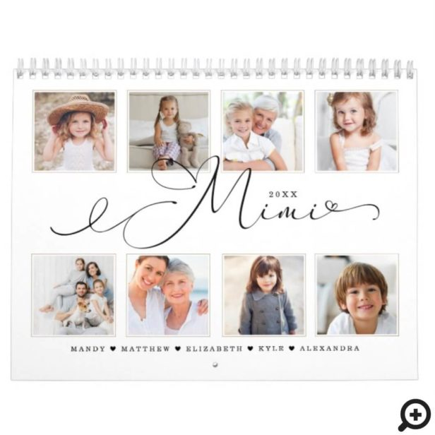 Gift for Mimi | Grandchildren Family Photos Calendar