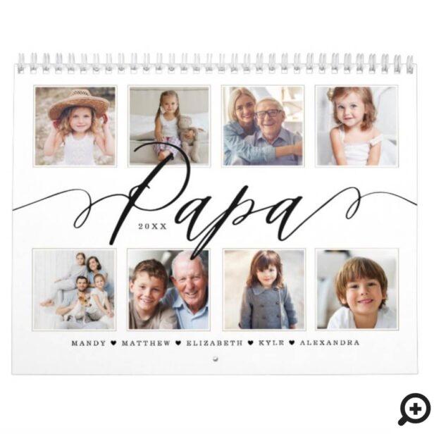 Gift for Papa | Grandchildren Family Photos Calendar