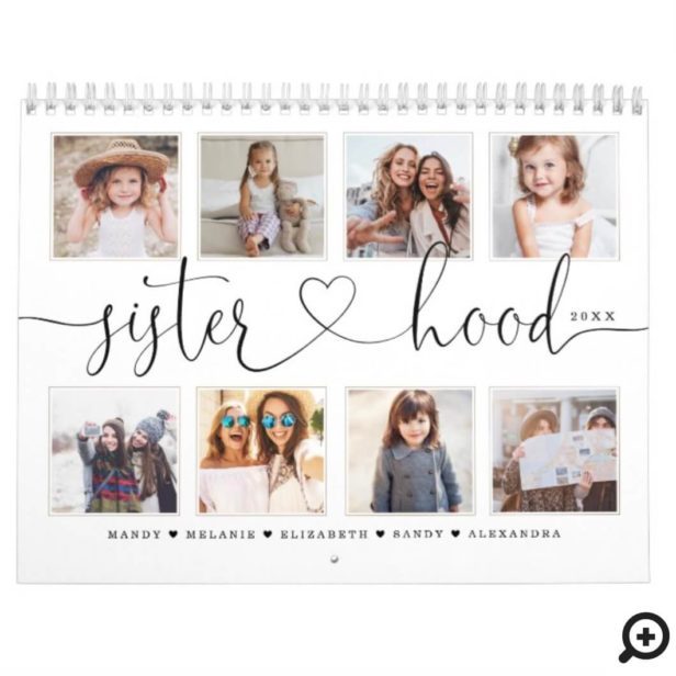 Gift for Sisters | Sisterhood Family Memories Calendar