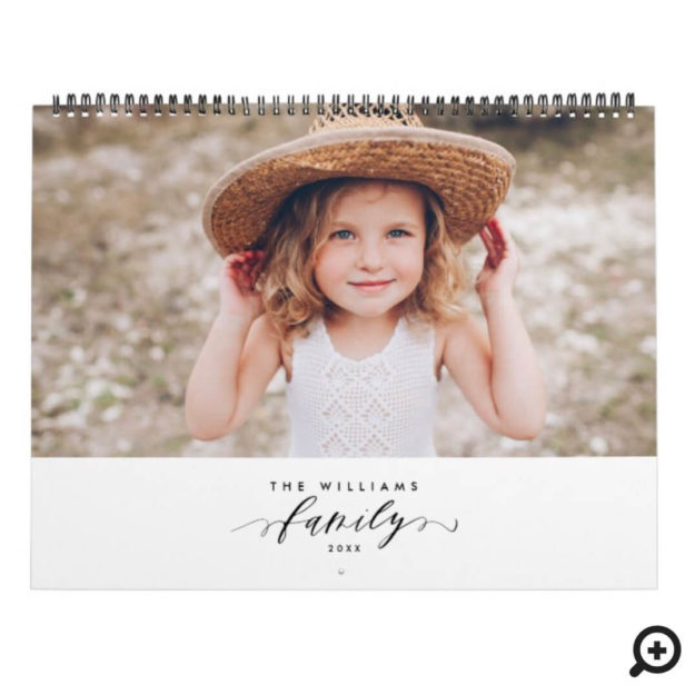 Modern Minimalist Multi Photo Family Memories Calendar