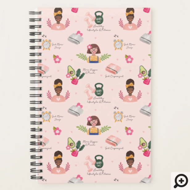 New You | New Year Resolutions Girly Illustrative Planner Blush Pink
